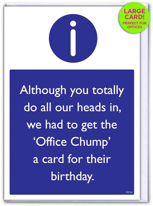 Birthday Office Chump (Large Card)
