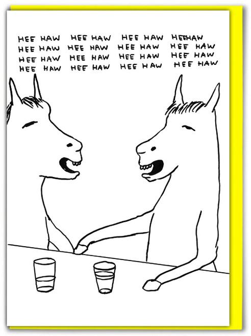 David Shrigley HeeHaw Greetings Card
