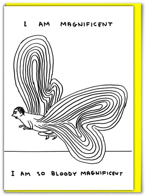 David Shrigley Magnificent Greetings Card