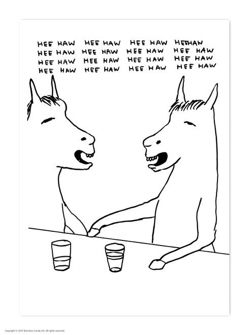 David Shrigley HeeHaww Postcard