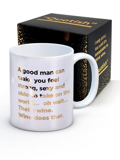 A Good Man Boxed Mug