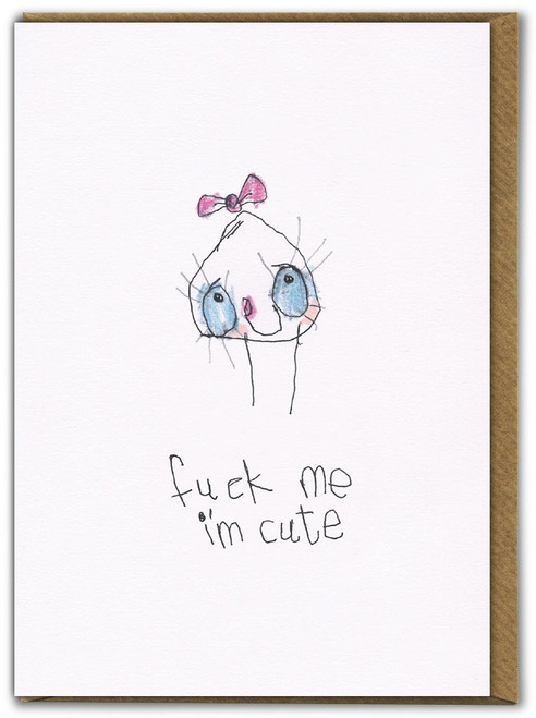 I'm Cute Birthday Card