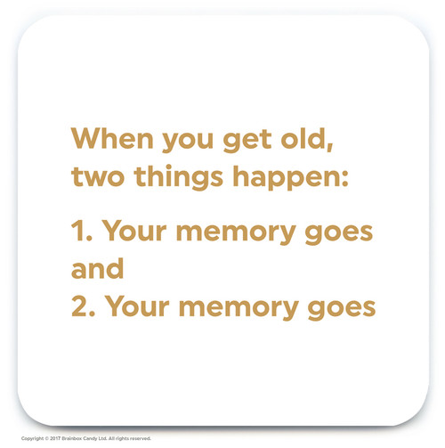 Get Old Two Things Coaster