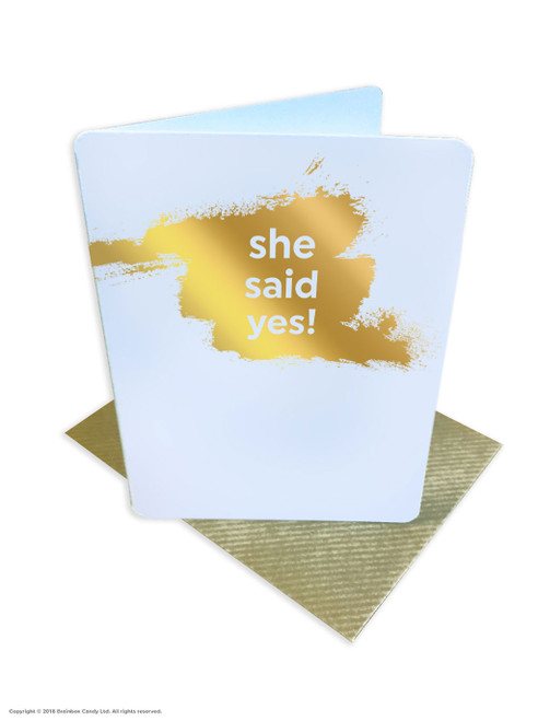 She Said Yes! (Gold Foiled) Engagement Card