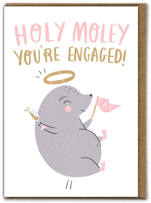 Holy Moley Engagement Card