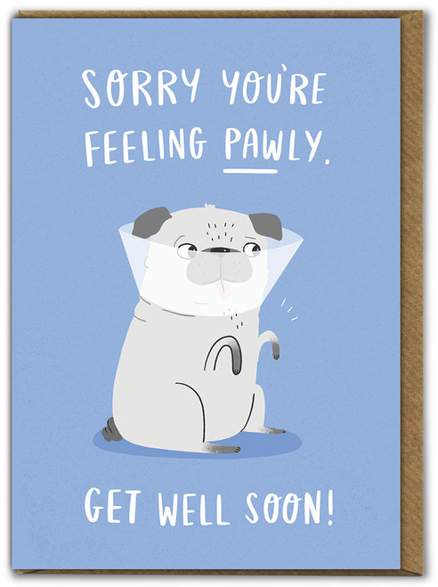 Pawly Get Well Soon Card