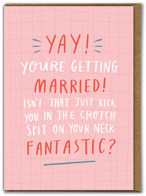 Yay! You're Getting Married Engagement / Wedding Card