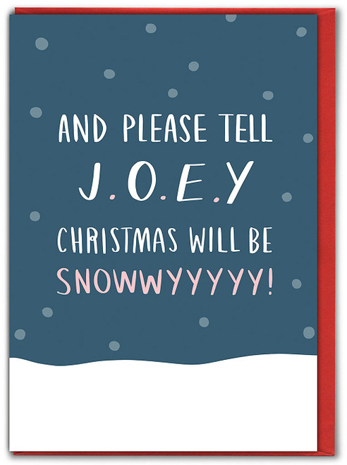 Snowwwyyy Christmas Card