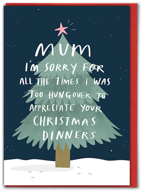 Mum Too Hungover Christmas Card