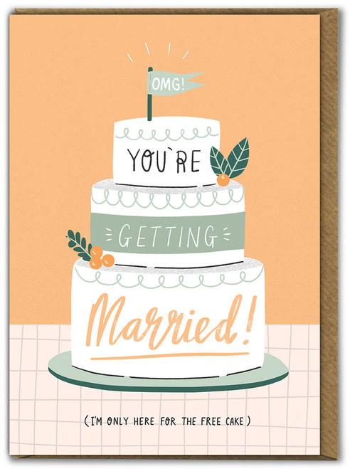 Free Cake Wedding Card