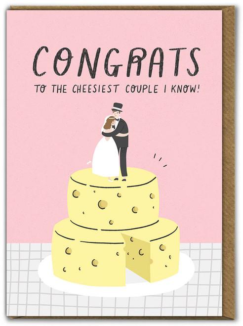 Cheesiest Couple Wedding Card