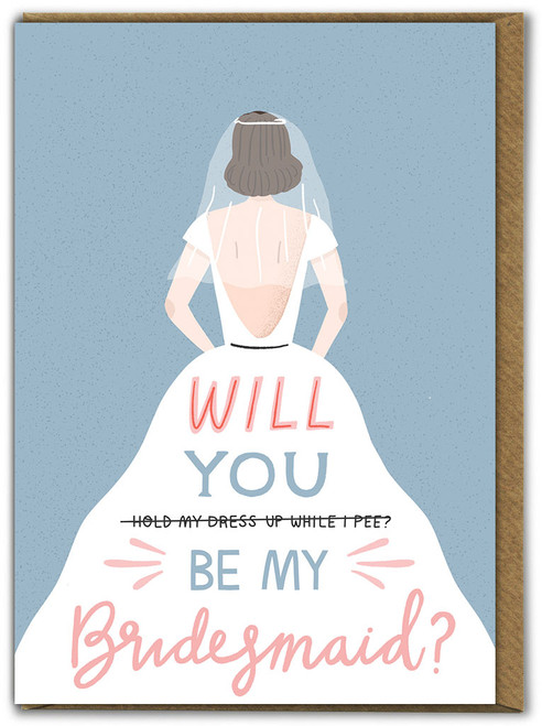 Bridesmaid Engagement / Wedding Card