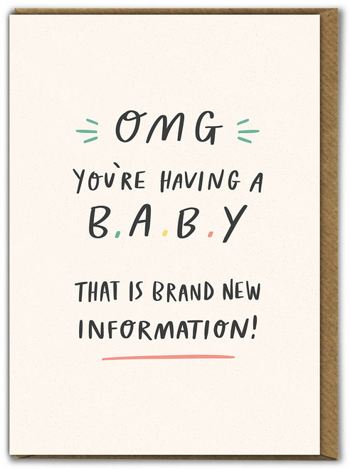 OMG You're Having A Baby Greetings Card