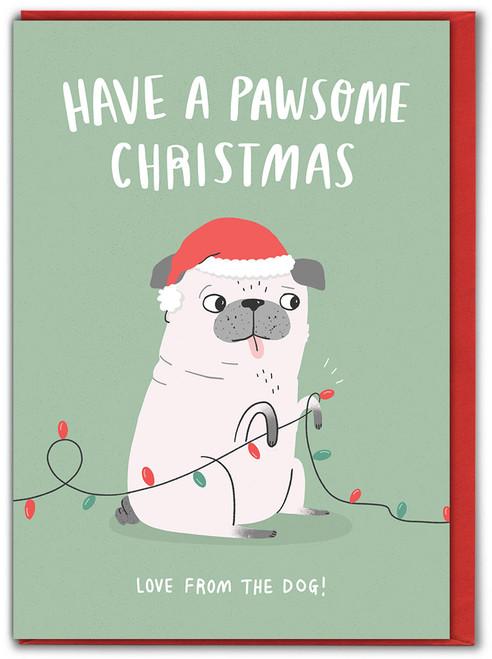 Pawsome Christmas Xmas Card