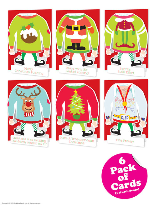 6 Pack of Funny Christmas Cards - Elf Yo'Self Range