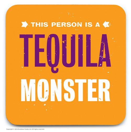 SALE - Tequila Monster Coaster (Distressed Design)