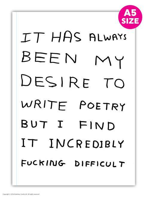 David Shrigley Write Poetry A5 Notebook