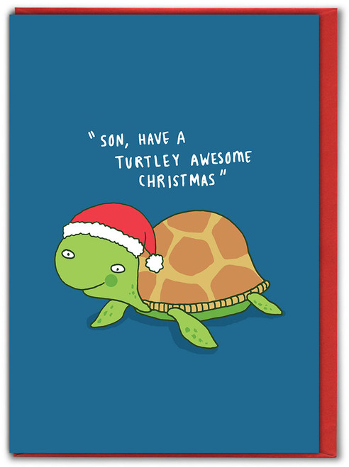 Son Turtley Awesome Christmas Card