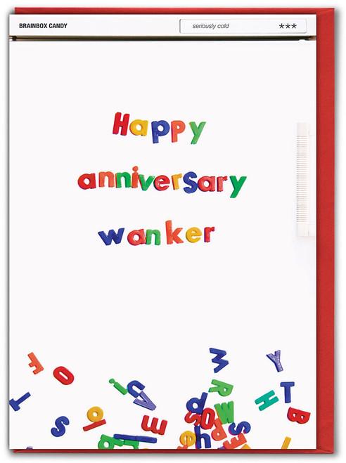 Anniversary Wanker Greetings Card