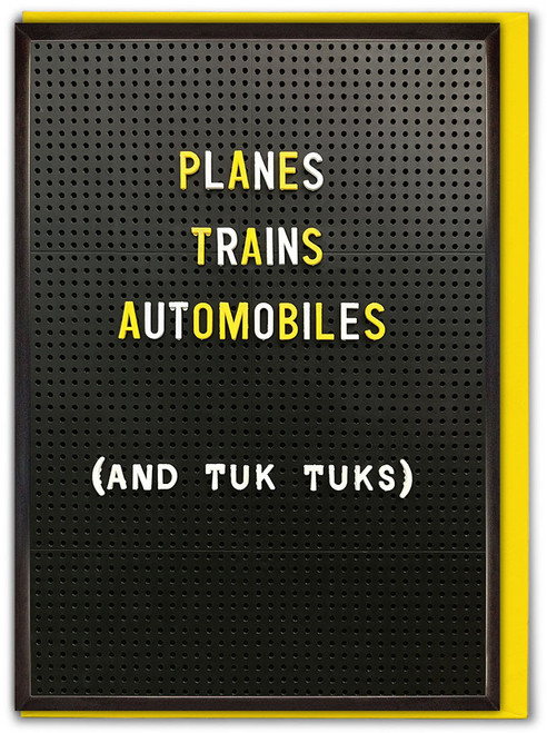 Planes Trains Automobiles Bon Voyage Card