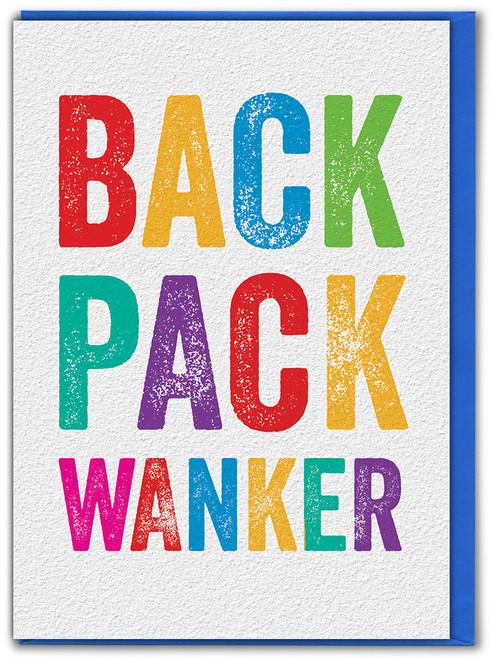 Back Pack Wanker Bon Voyage Card