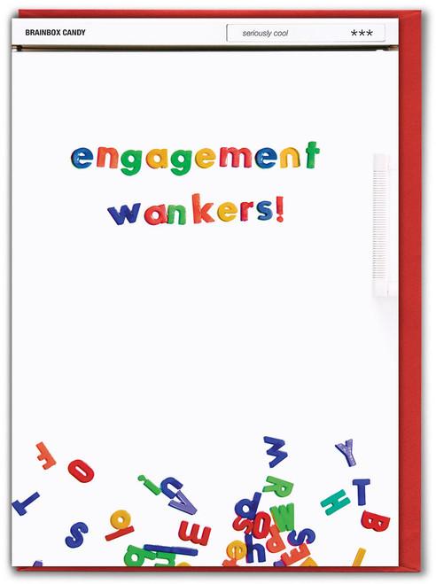 Engagement Wankers Greetings Card