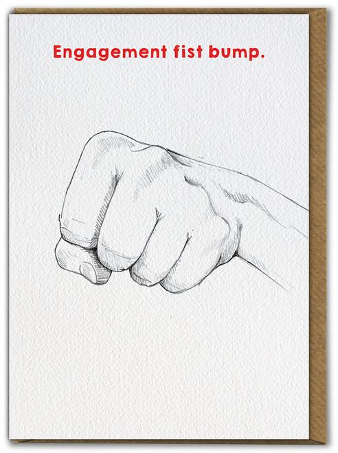 Engagement Fist Pump Greetings Card