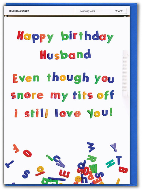 Husband Snore Tits Off Birthday Card