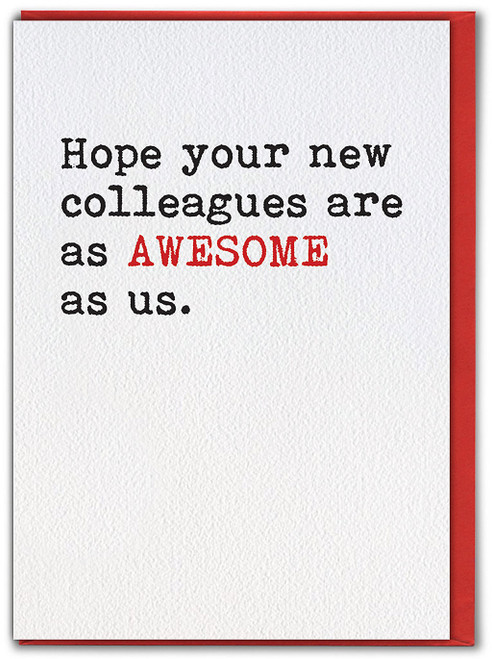 Awesome Colleagues (White) Leaving Card