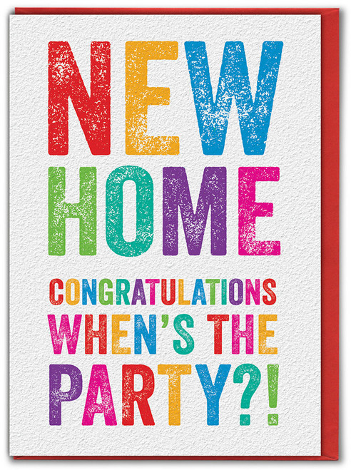 New Home When's The Party Card
