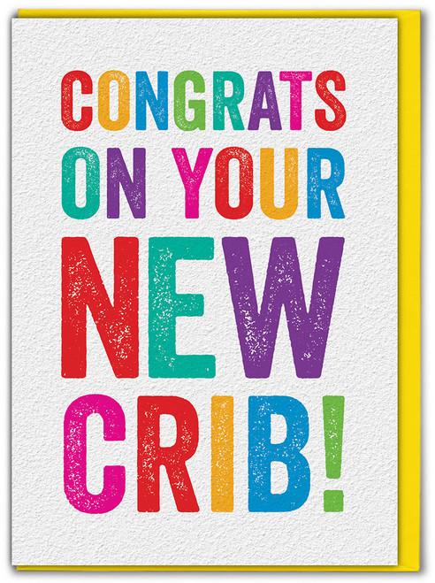 Congrats New Crib Moving Home Card