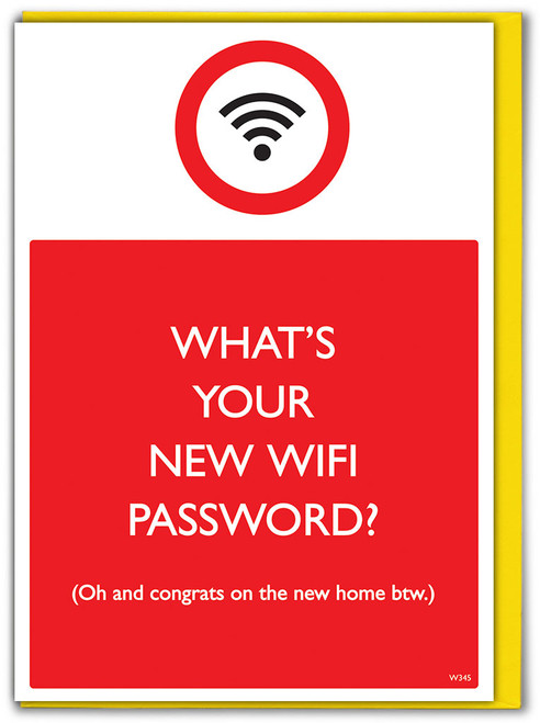New Home Wifi Password Card