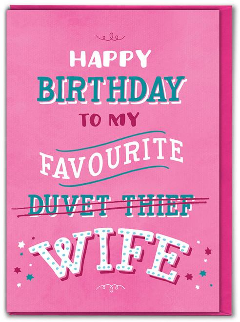Duvet Thief Wife Birthday Card