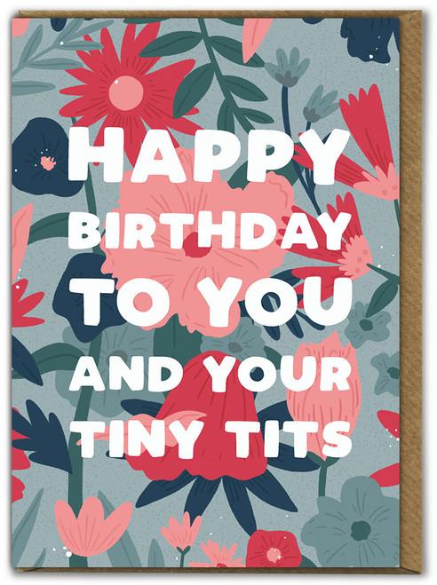 Tiny Tits Birthday Card