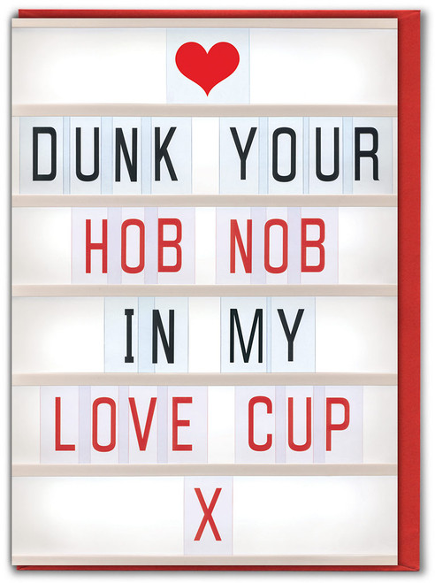 Hob Nob Valentine's Day Card