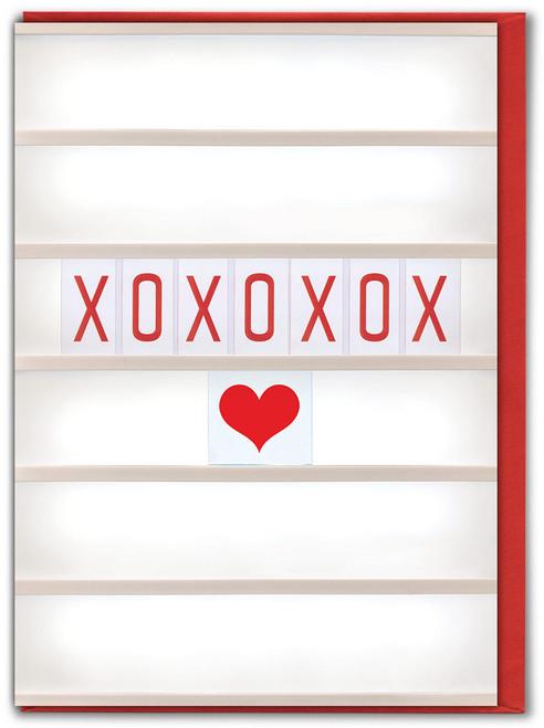 XOXOXOX Valentine's Day Card