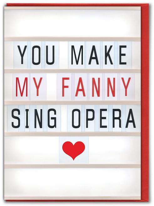Fanny Sing Opera Valentine's Day Card