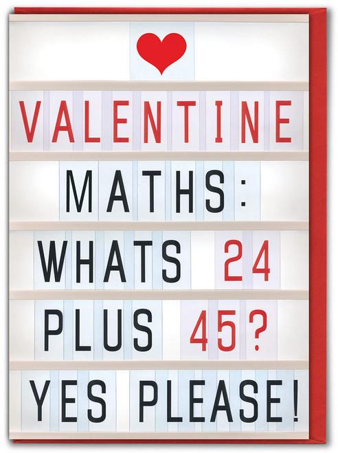 Maths Valentine's Day Card