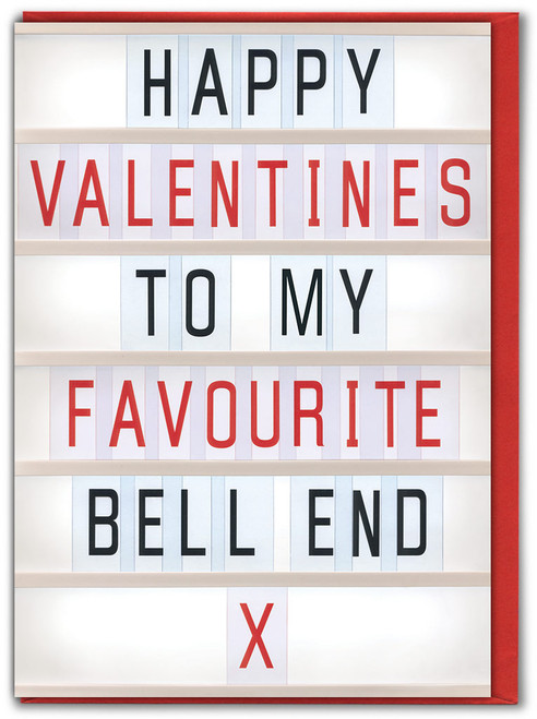 Bell End Valentine's Day Card