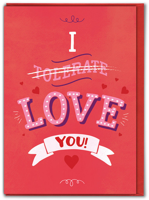 I Tolerate You Valentine's Day Card