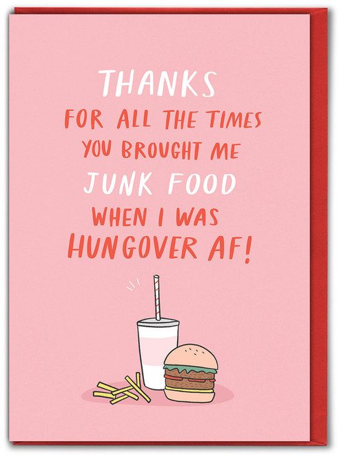 Junk Food Hungover Valentine's Day Card