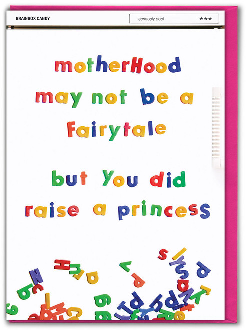 Raised A Princess Mother's Day Card