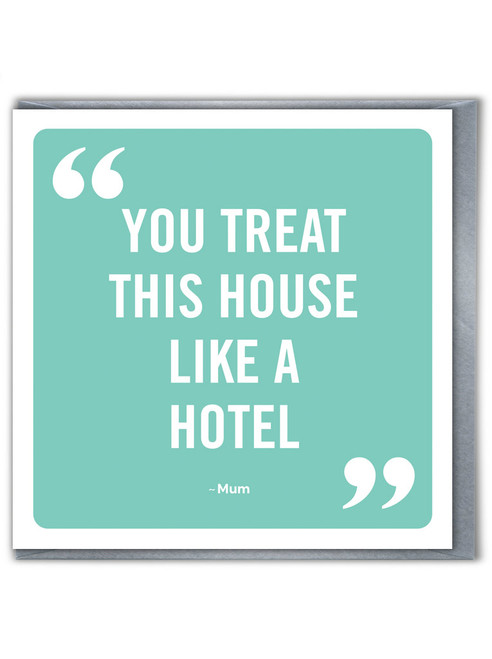House Like Hotel Mother's Day / Birthday Card