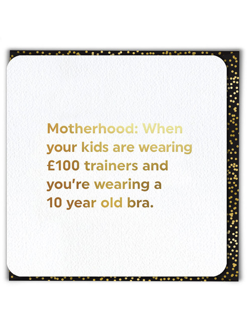 10 Year Old Bra (Gold Foiled) Mother's Day Card