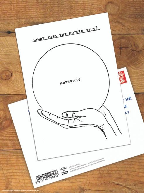 David Shrigley Arthritis Postcard