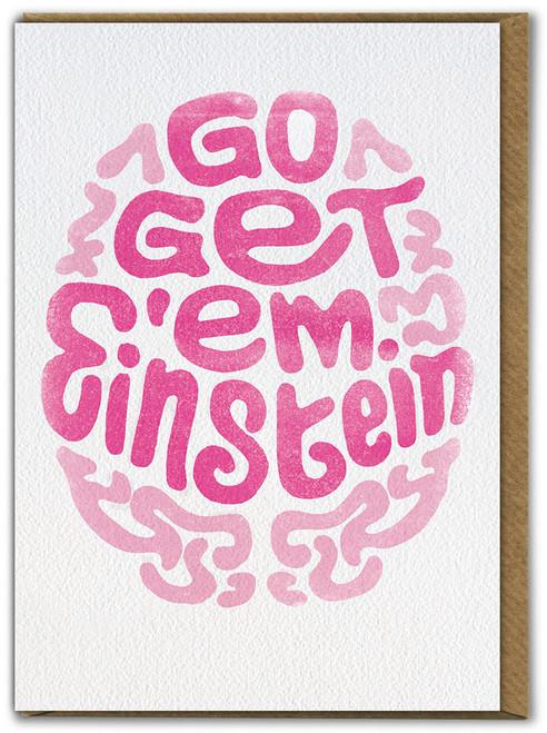 Einstein Good Luck / Exams Card