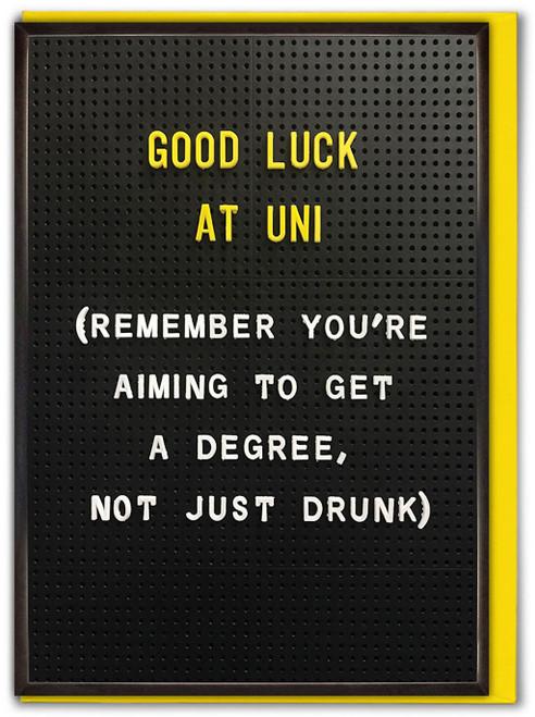Good Luck At Uni University Card