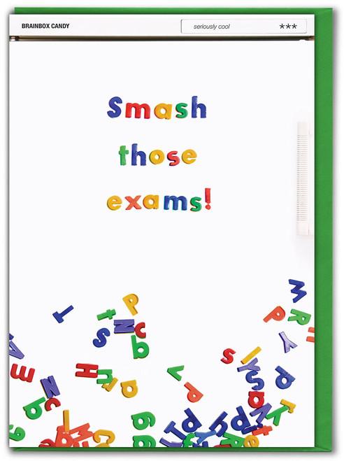 Smash Those Exams Good Luck Card