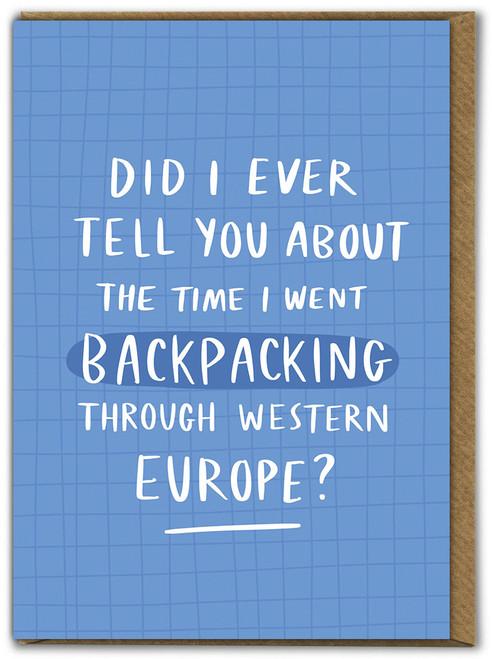 Backpacking Western Europe Bon Voyage Leaving Card