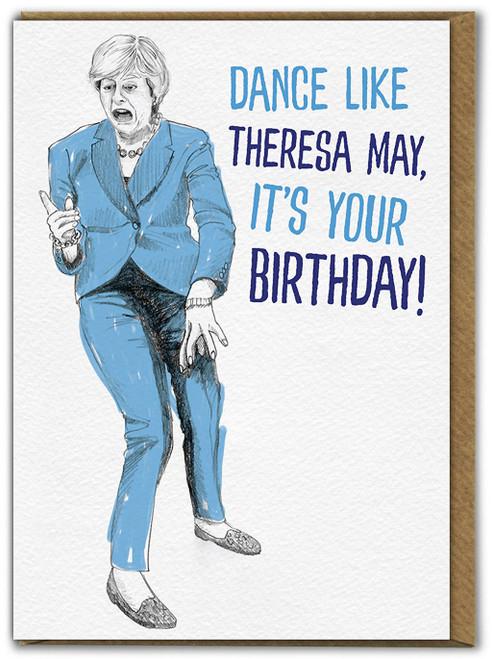 Dance Like Theresa Birthday Card